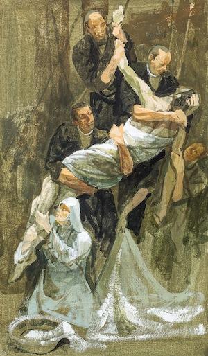 """Safet Zec: """"Deposizione del corpo del Signore dalla croce"""" - Bozzetto"""